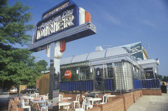 Retro-style outside diner Stock Images