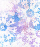 Retro style pattern with lace shapes. Stock Images