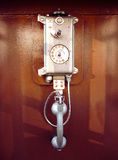 Retro Style Payphone in a Call-Box Royalty Free Stock Images