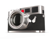 Retro style photo camera - focused on lens Royalty Free Stock Images