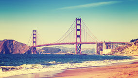 Retro style photo of Golden Gate Bridge. Stock Photography
