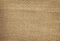 Retro style photo of natural linen fabric. Stock Images
