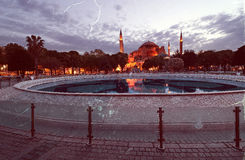 Retro style photo of St. Sophia church in Istanbul. Turkey Royalty Free Stock Images