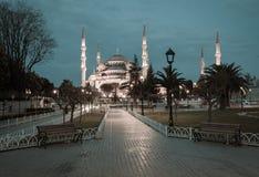 Retro style photo of Sultanahmet Blue Mosque Stock Photos