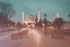 Retro style photo of Sultanahmet Blue Mosque Royalty Free Stock Photo