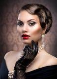 Retro Style Portrait stock photography