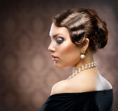 Retro Style Portrait royalty free stock photography