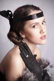 Retro style portrait Stock Image