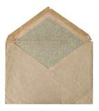 Retro style post mail envelope isolated on white Royalty Free Stock Photos