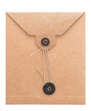 Retro style post mail envelope. recycled cardboard paper Royalty Free Stock Images