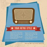 Retro style poster Royalty Free Stock Images