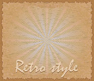 Retro style poster horizontal vector illustration Royalty Free Stock Images
