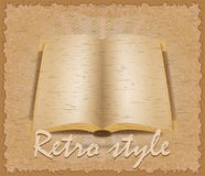 Retro style poster old book vector illustration Royalty Free Stock Photography