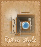 Retro style poster old camera photo vector illustration Stock Photo