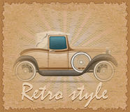 Retro style poster old car vector illustration Royalty Free Stock Image