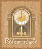 Retro style poster old clock vector illustration Stock Image