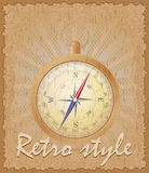 Retro style poster old compass vector illustration Stock Image
