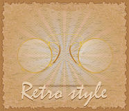 Retro style poster old eyeglasses pince-nez vector illustration Stock Images