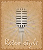 Retro style poster old microphone vector illustration Stock Images