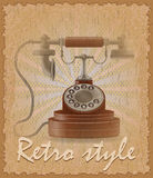 Retro style poster old phone vector illustration Stock Photography