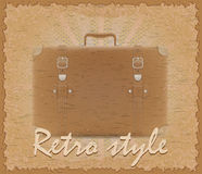 Retro style poster old suitcase vector illustration Royalty Free Stock Photography