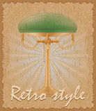 Retro style poster old table lamp vector illustration Royalty Free Stock Image
