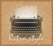 Retro style poster old typewriter vector illustration Royalty Free Stock Image