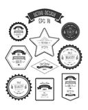 Retro style quality stamps vector Stock Image