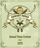 Retro style rodeo poster Royalty Free Stock Images