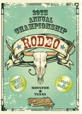 Retro style rodeo poster Stock Photography