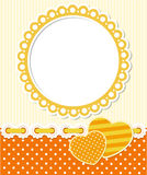 Retro style romantic scrapbook frame Royalty Free Stock Photo