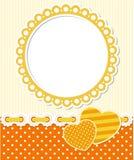 Retro style romantic scrapbook frame. Retro style scrapbook floral frame. Editable vector illustration. EPS 10 stock illustration