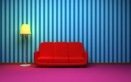 Retro style room Stock Photo