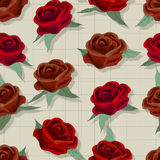 Retro style rose pattern Stock Images