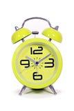 Retro style round green clock Stock Photography