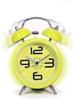 Retro style round green clock Stock Photos