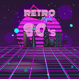 Retro style 80s disco design neon Royalty Free Stock Image