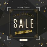 Retro style Sale banner with flourishes frame and glitter gold elements. Retro style Sale banner with ornamental flourishes frame and glitter gold elements Royalty Free Stock Image