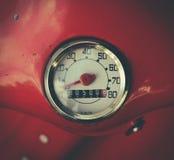 Retro Style Scooter Speedometer Stock Images