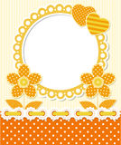 Retro style scrapbook floral frame Royalty Free Stock Image