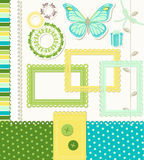 Retro Style Scrapbooking Elements Stock Photography