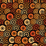 Retro style seamless circle pattern Royalty Free Stock Images