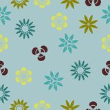 Pastel color Seamless flower pattern background. Pastel Retro style Seamless flower pattern background multi color for paper gift; fabric; backdrop up to your vector illustration