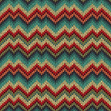 Retro style seamless knitted pattern Royalty Free Stock Images