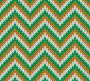 Retro Style Seamless Knitted Pattern.  Vector Royalty Free Stock Photos