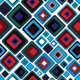 Retro style seamless pattern. Stock Images