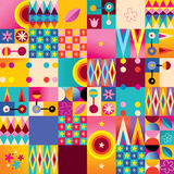 Retro style seamless pattern. Abstract art retro style seamless pattern Vector Illustration