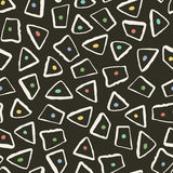 Retro style seamless pattern with geometric shapes Royalty Free Stock Image