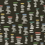 Retro style seamless pattern with stylized piles of pebbles Stock Photo
