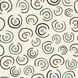 Retro style seamless pattern with swirls Royalty Free Stock Photo